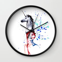 Unicorn Day Wall Clock