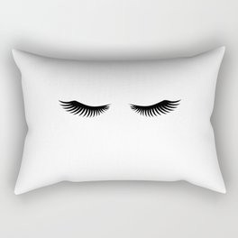 Eyelashes Print,Makeup Poster,Bathroom Decor,Girls Room Decor,Girls Bedroom Decor,Home Decor Rectangular Pillow