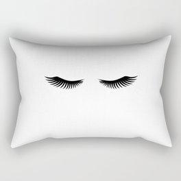 Eyelashes Print,Makeup Poster,Bathroom Decor,Girls Room Decor,Girls Bedroom Decor,Home Decor Rectangular Pillow