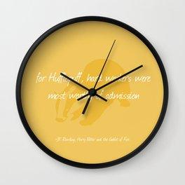 Sorting Hat Poem - Hufflepuff Wall Clock