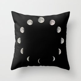 Moon Stages Throw Pillow
