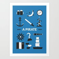 ouat Art Prints featuring OUAT - A Pirate by Redel Bautista