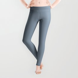Mid Tone Sky Blue Solid Color Pairs To Valspars 2021 Color of the Year Blissful Blue 4005-3C Leggings