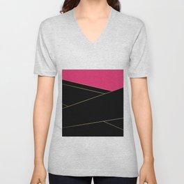 Angelica . Raspberry , black Unisex V-Neck