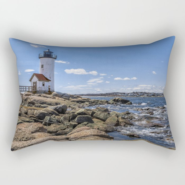Annisquam Lighthouse afternoon Rectangular Pillow