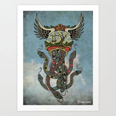 In To The Blue Art Print