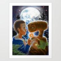 Stranger Extraterrestrial Things Art Print