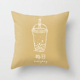 Bubble Tea/ Boba (mainichi) Throw Pillow