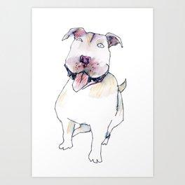 staffie Art Print