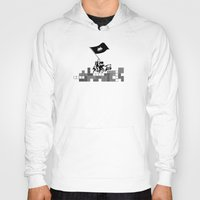 video games Hoodies featuring Video Games at Iwo Jima by Mike Dicker