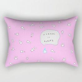 NORMAL IS BORING PINK Rectangular Pillow