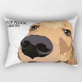 Bitch Please.  I'm Fabulous.  Golden Retriever Rectangular Pillow