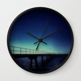 Island Jetty and Birds  Wall Clock