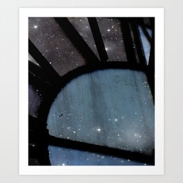 Starry Night - Clock Tower Art Print