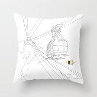 rio Throw Pillows featuring RIO by ThiagoKoi