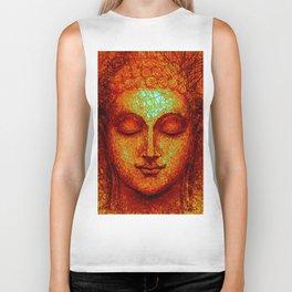 Orange Buddha Biker Tank