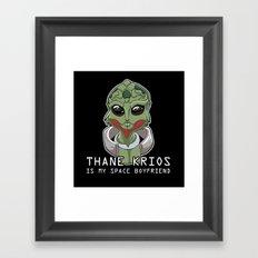 Thane Is My Space Boyfriend Framed Art Print