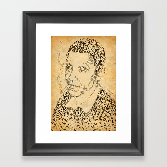 barac obama in the font of times Framed Art Print
