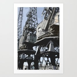 Bristol Docks Art Print