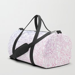 phat leaf pattern pastel gradient Duffle Bag
