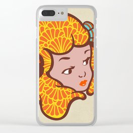 Girl Power Lady Lava Clear iPhone Case