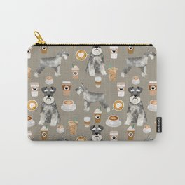 Schnauzer coffee dog breed pet art pure breed cafes pupuccino Carry-All Pouch