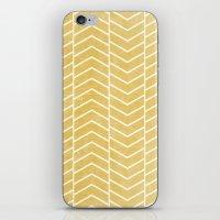 chevron iPhone & iPod Skins featuring Yellow Chevron by Zeke Tucker