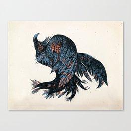 falling bird Canvas Print