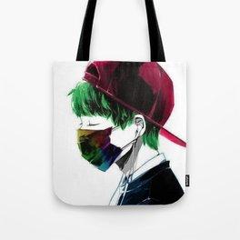 Japanese Art Man Tote Bag