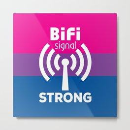 BiFi Signal Strong Metal Print