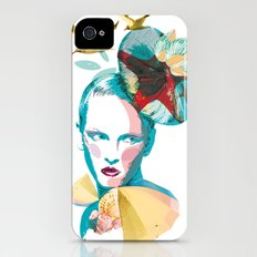 Blue woman, sea and sun iPhone (4, 4s) Slim Case