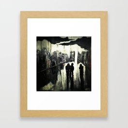 HATE THIS TOWN Framed Art Print