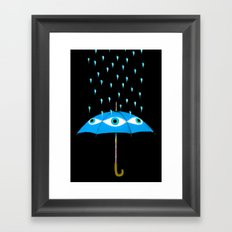 Storms Are Brewing In Your Eyes Framed Art Print