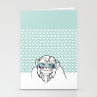 monkey Stationery Cards featuring Monkey by naidl