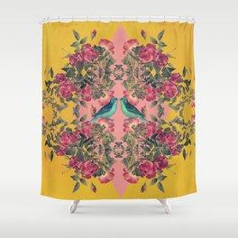 Love Birds II (yellow version) Shower Curtain