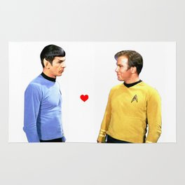 Kirk and Spock Space Husbands Print Rug