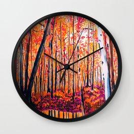 Fall Bedroom Wall Clock