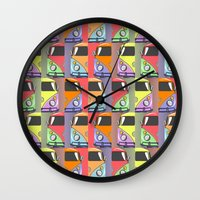 cars Wall Clocks featuring cars by mark ashkenazi