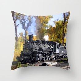 Cumbres and Toltec Railroad Throw Pillow