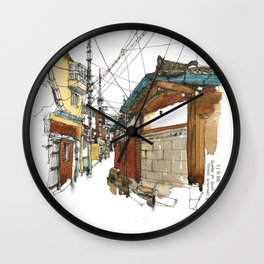 vintige city-seoul Wall Clock