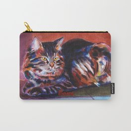Terra Cotta Tabby Carry-All Pouch