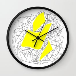 Collage yellow gar Wall Clock