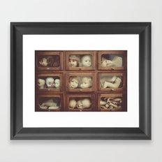 Doll Parts Framed Art Print