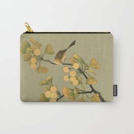 Bird in Ginkgo Tree Carry-All Pouch