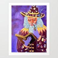 Smoking Wizard Art Print