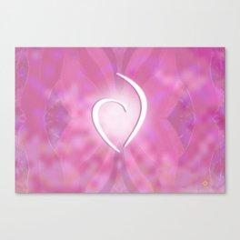 White Heart Sensuous Pinks Canvas Print