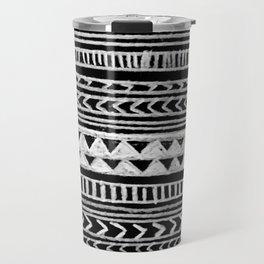 Triangle and Herring Bone Pattern Travel Mug