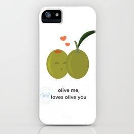 Olive you, loves olive me iPhone Case
