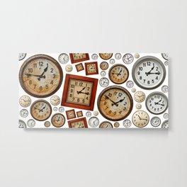 Old wall clocks background Metal Print