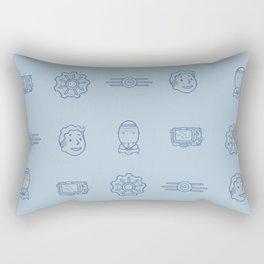 Fallout- Vault Dweller pattern Rectangular Pillow